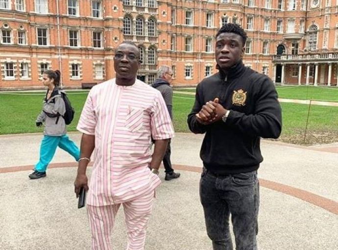 K1-'s son El-Amin, graduates with First Class from Royal Holloway UK